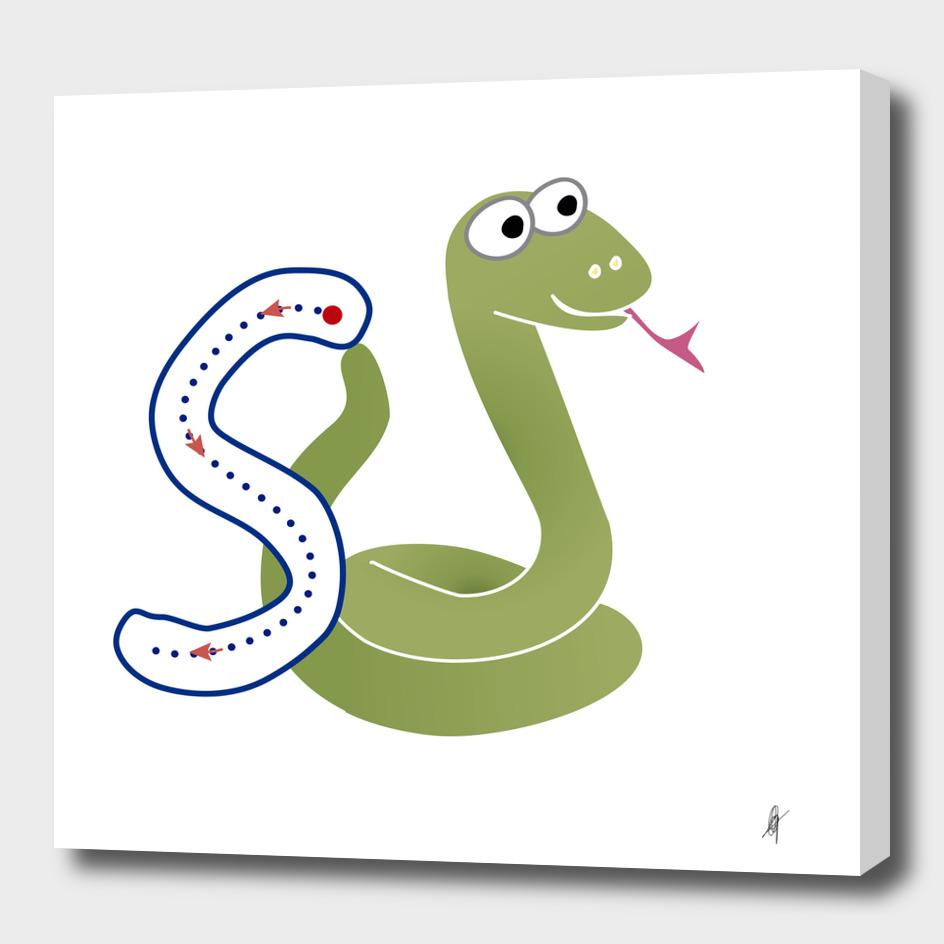 Animal alphabet, letter S: Snake