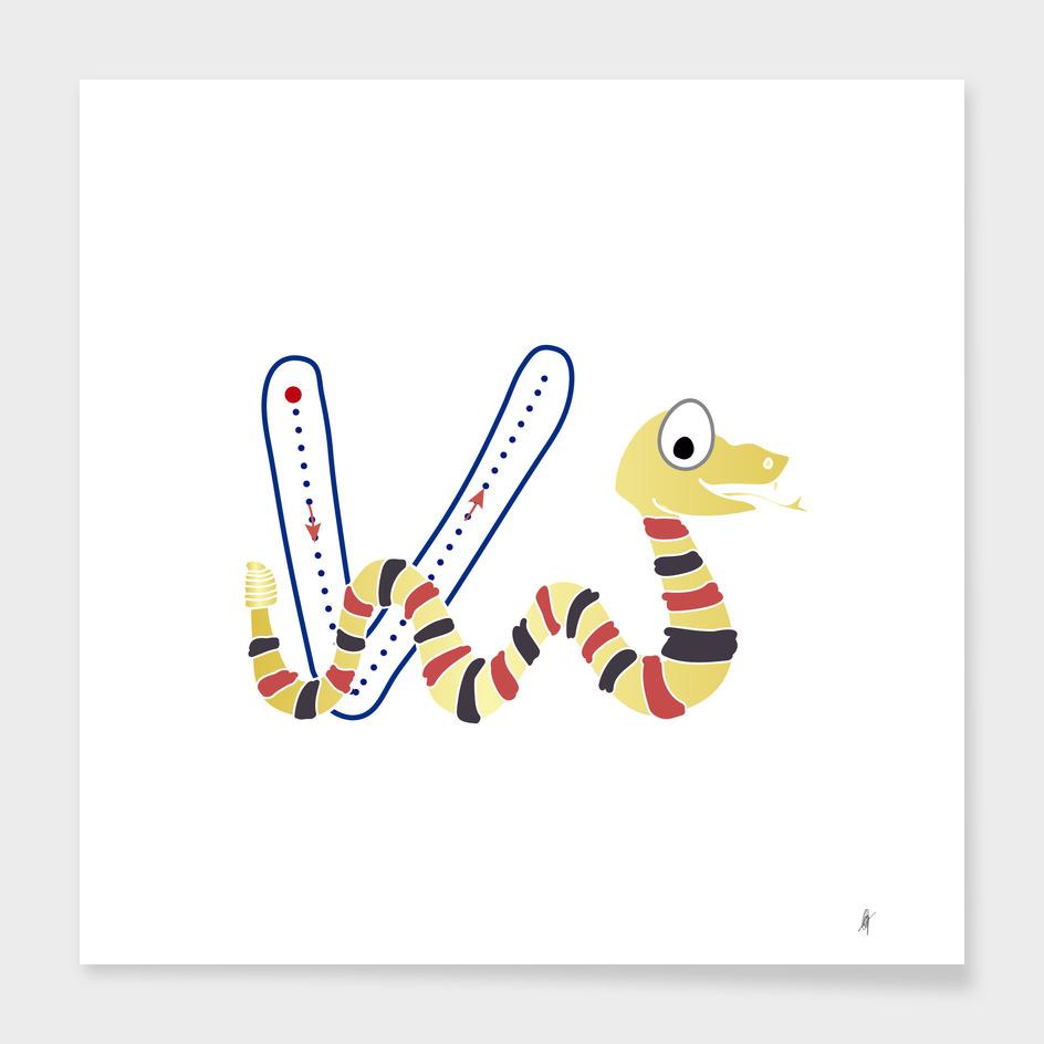 Animal alphabet, letter V: Viper