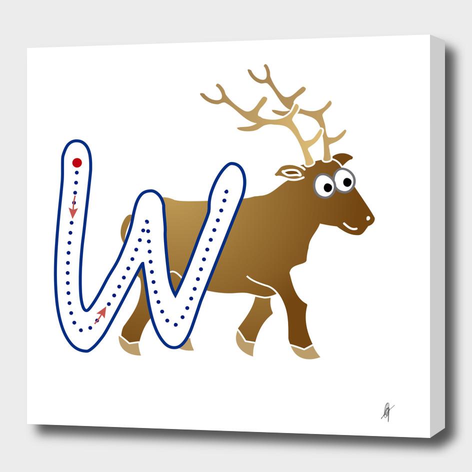 Animal alphabet, letter W: Wapiti