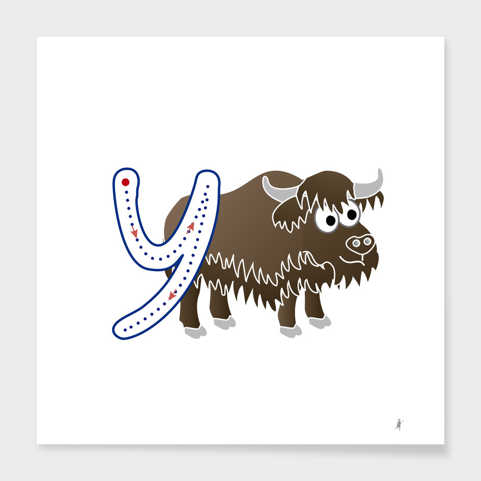 Animal alphabet, letter Y: Yak