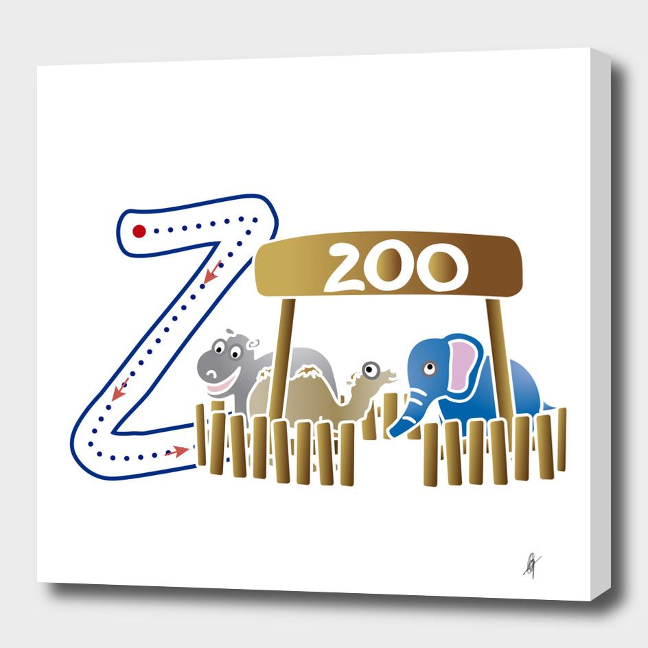 Animal alphabet, letter Z: Zoo