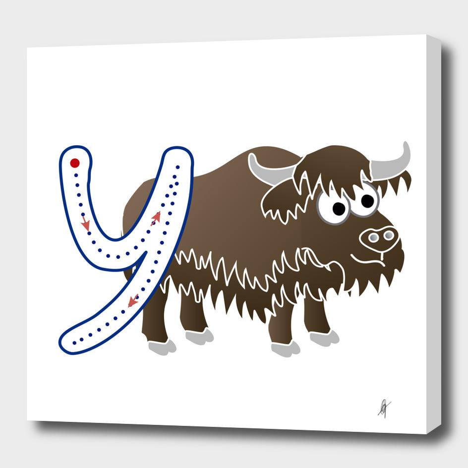 Animal alphabet, letter Y: Yak