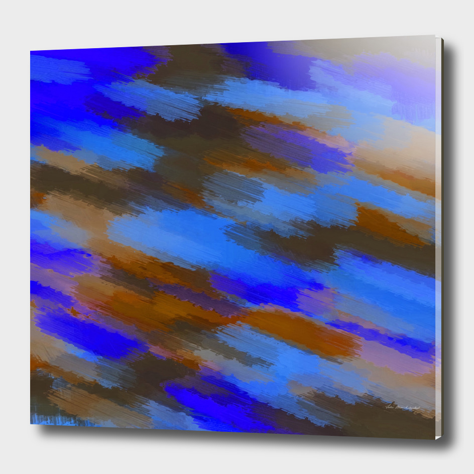 camouflage splash painting abstract in blue brown