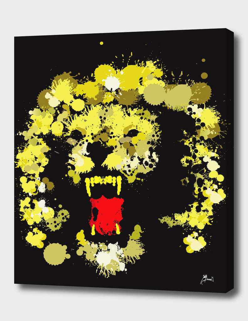 paint drop Lion