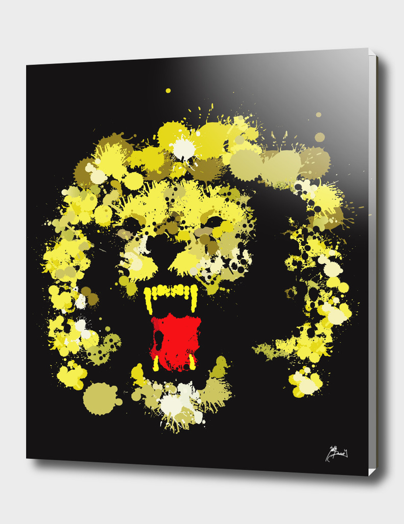 paint drop Lion