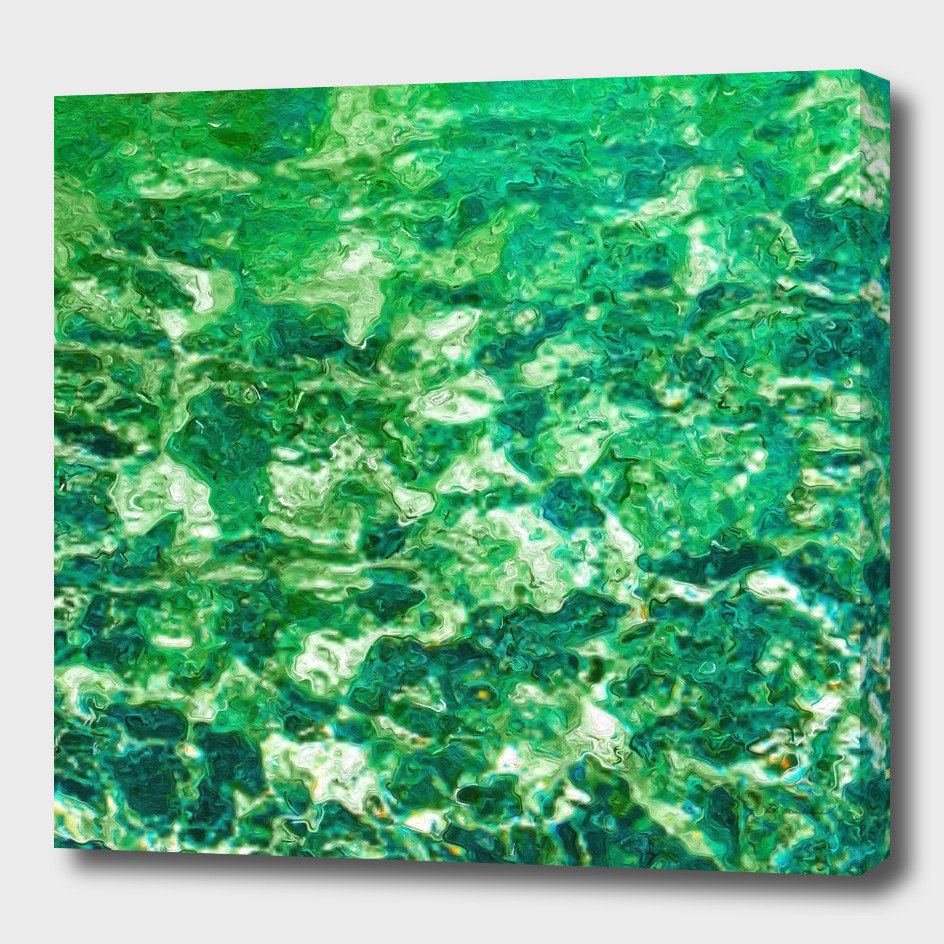 psychedelic painting texture abstract in green
