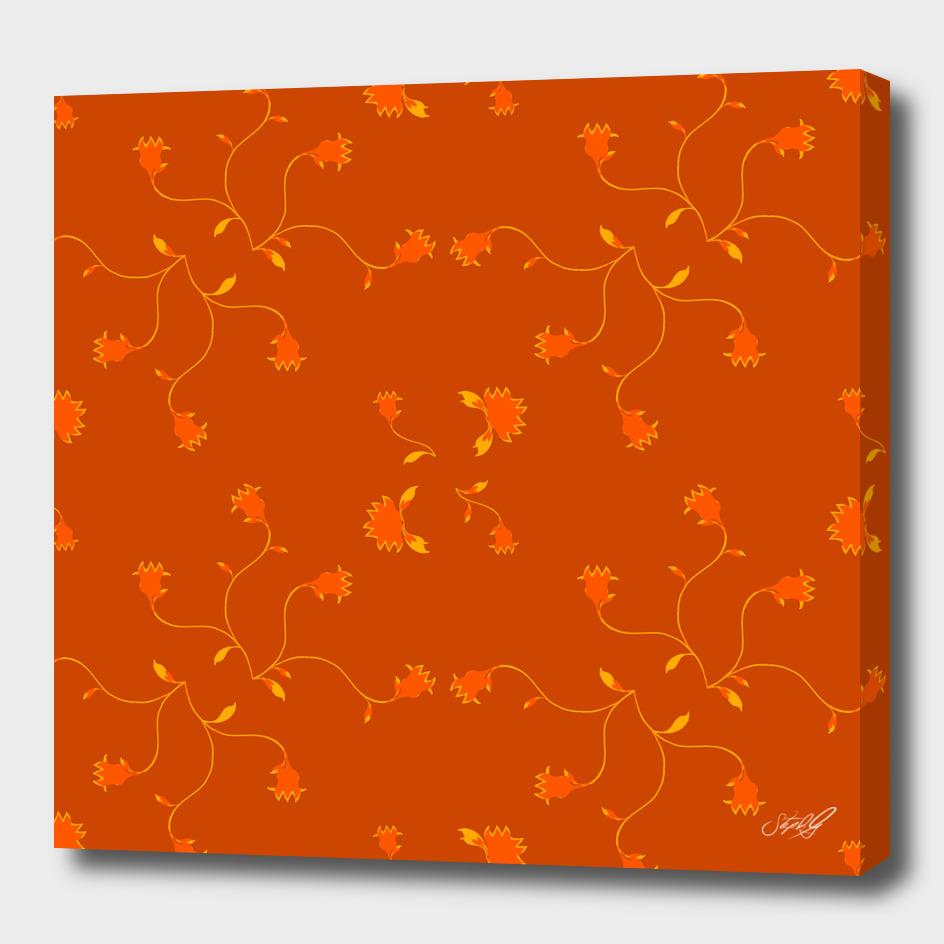 Wavy Tulips in orange