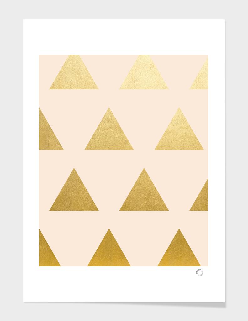 Blush + Gold Triangles