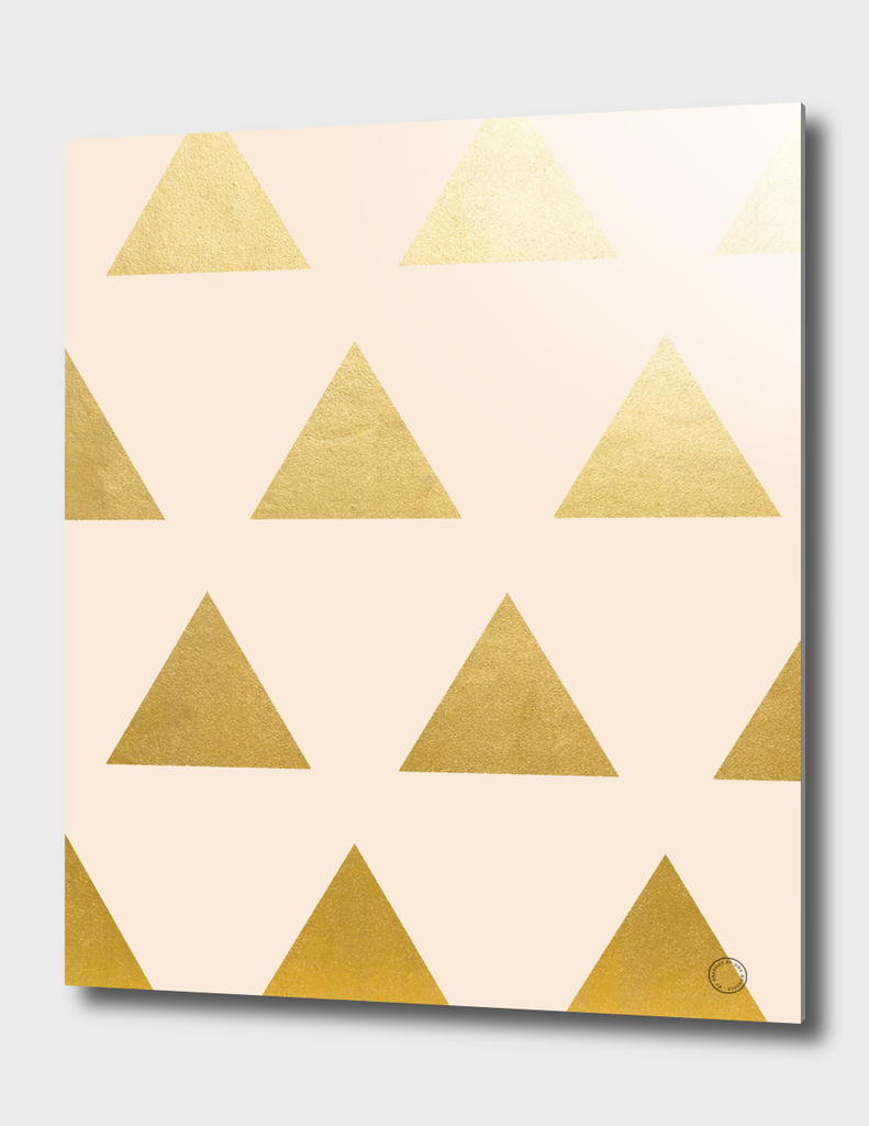 Blush + Gold Triangles
