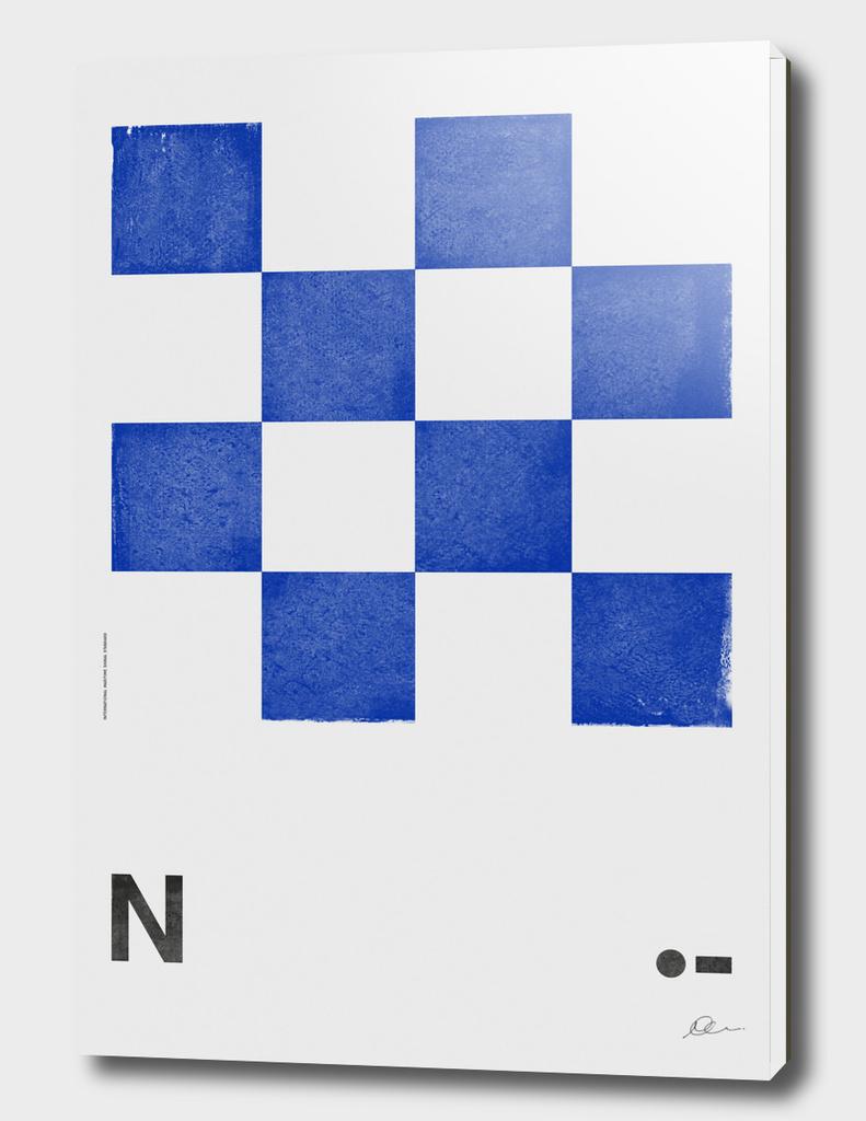 International Maritime Signal Flag Alphabet - N