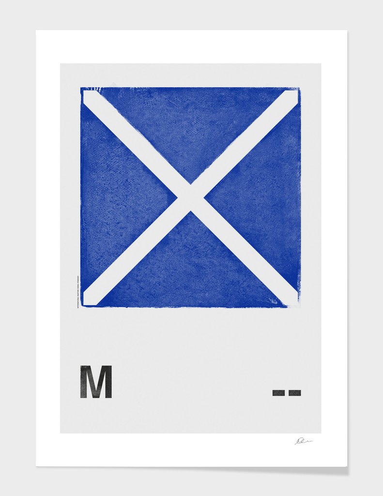 International Maritime Signal Flag Alphabet - M
