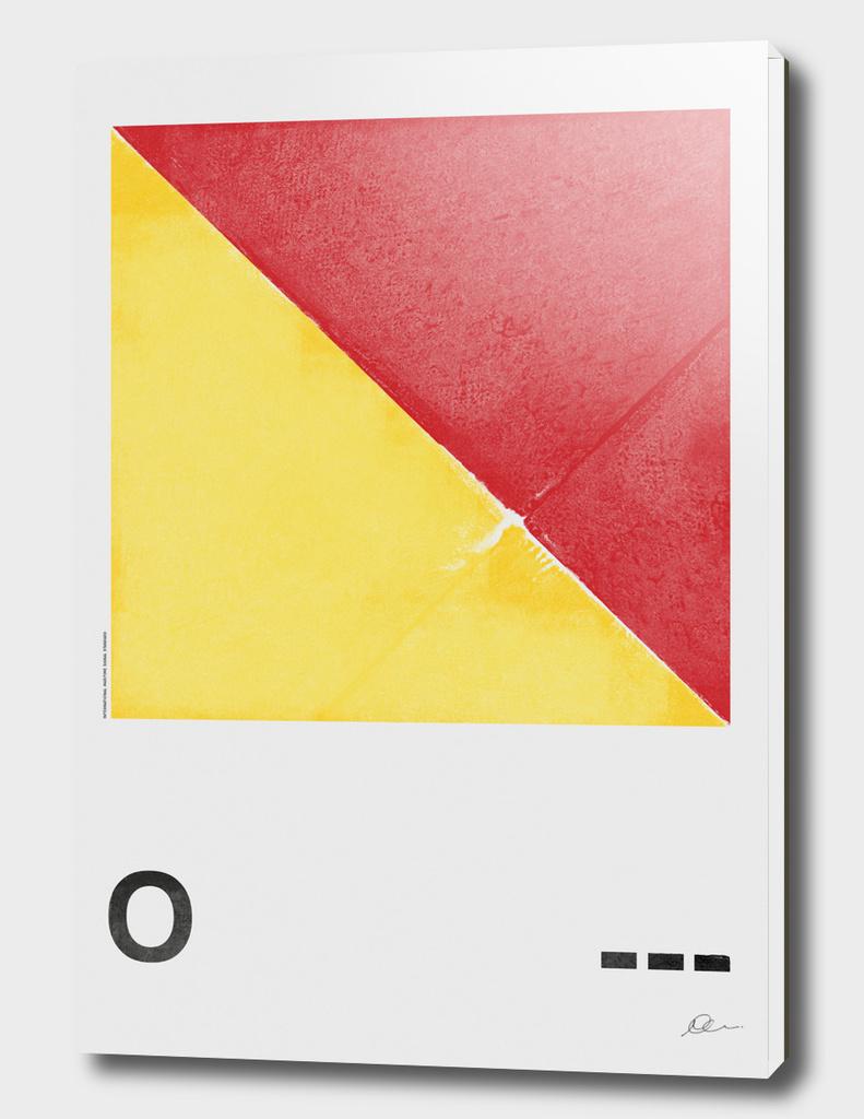 International Maritime Signal Flag Alphabet - O