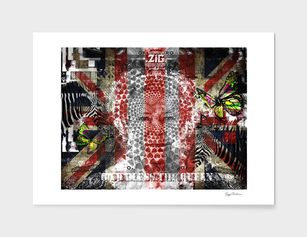 God Bless The Queen (Butterflies and Zebras Brexit De