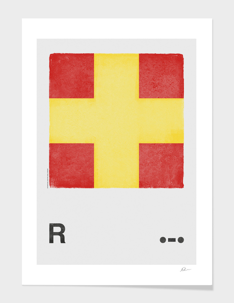 International Maritime Signal Flag Alphabet - R
