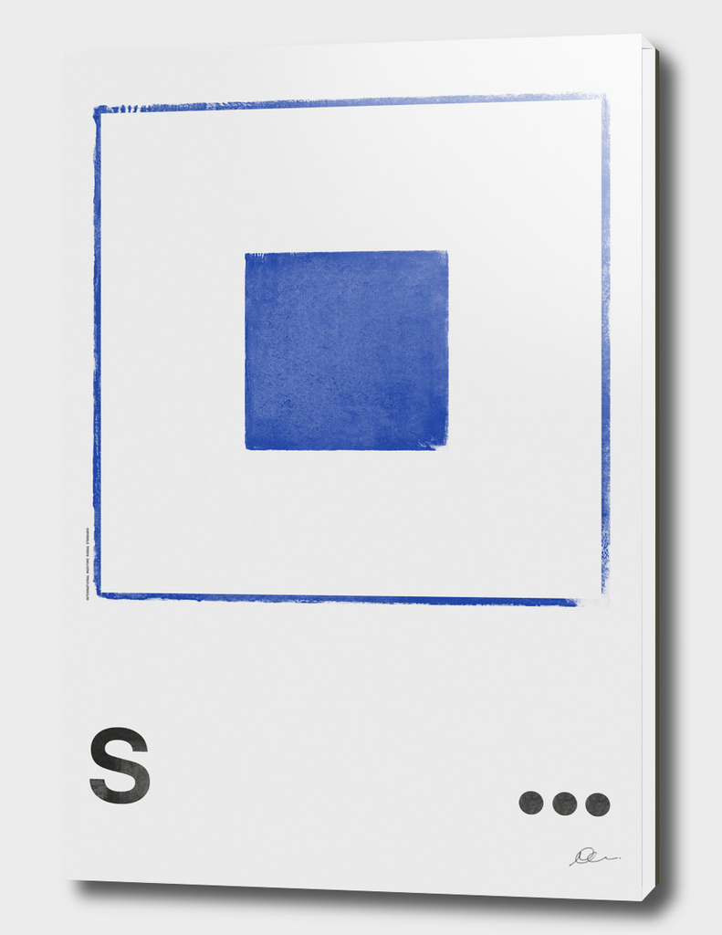 International Maritime Signal Flag Alphabet - S