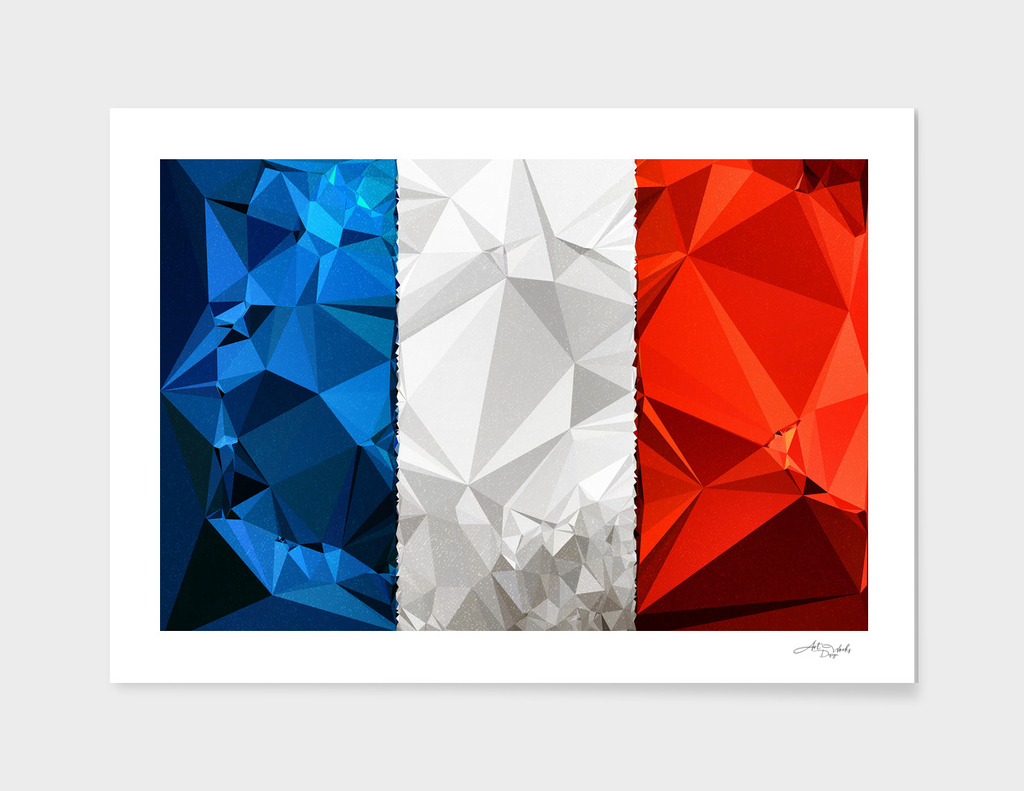 Flag III - France'Poly'Textured