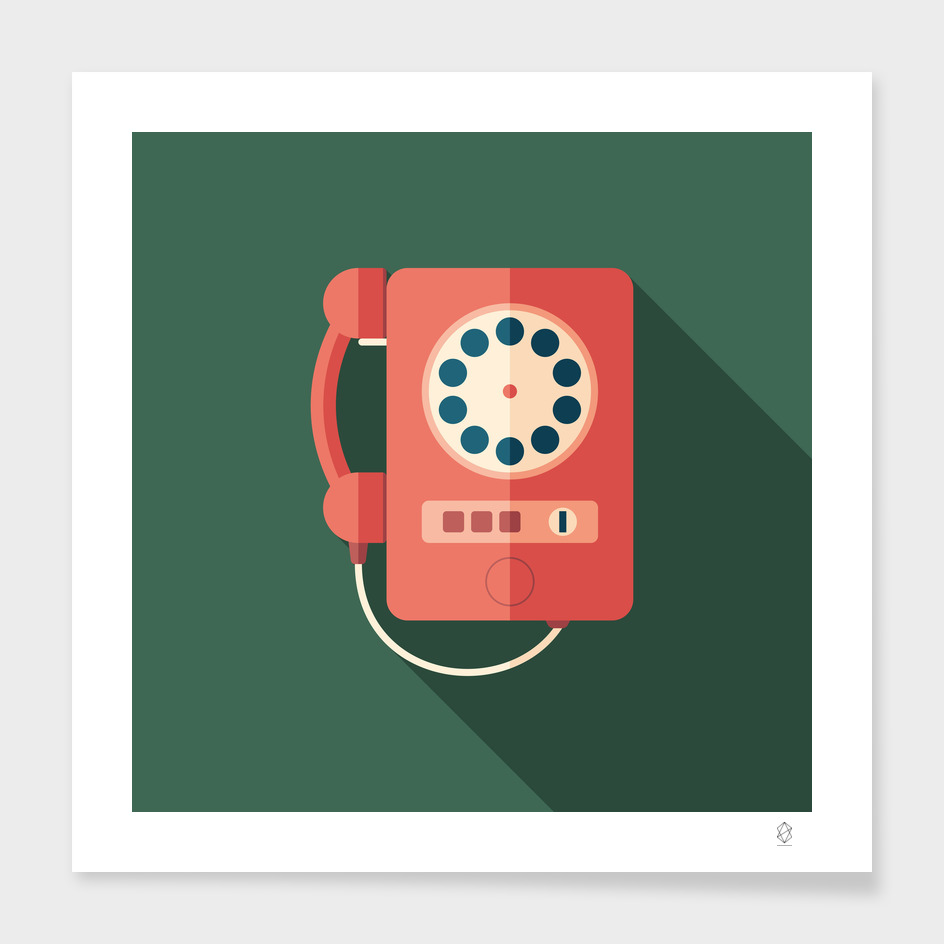 Vintage Red Telephone