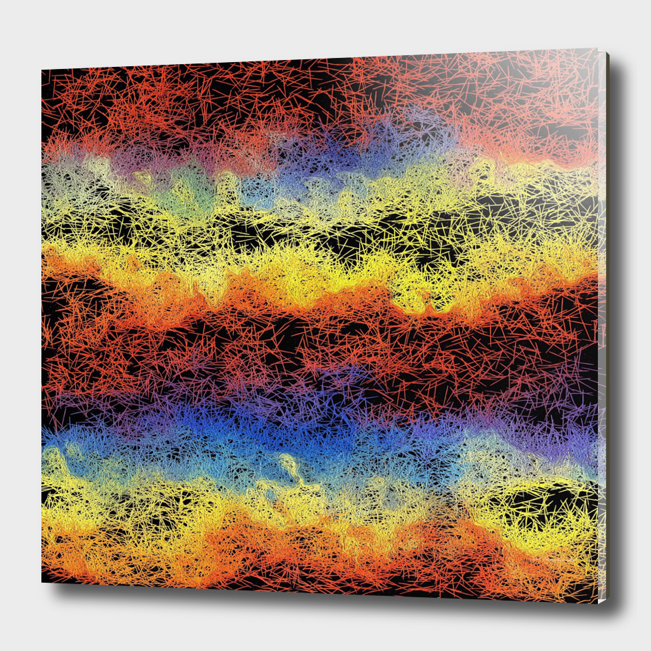 dark psychedelic geometric painting abstract
