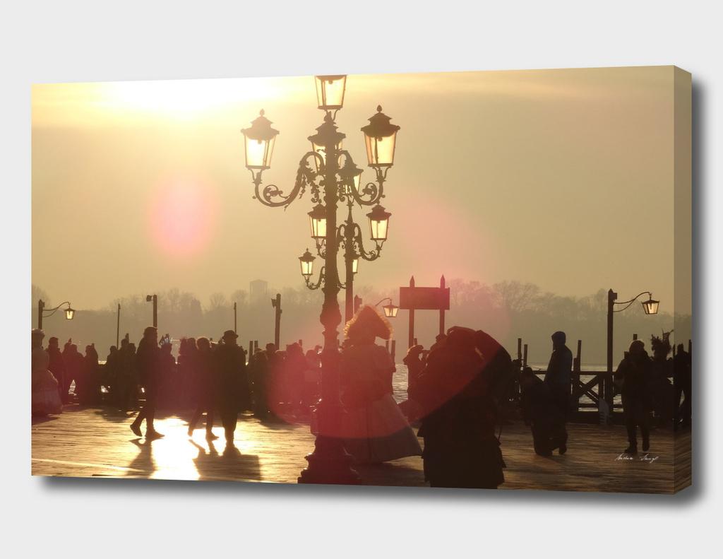 Golden hour in Venice