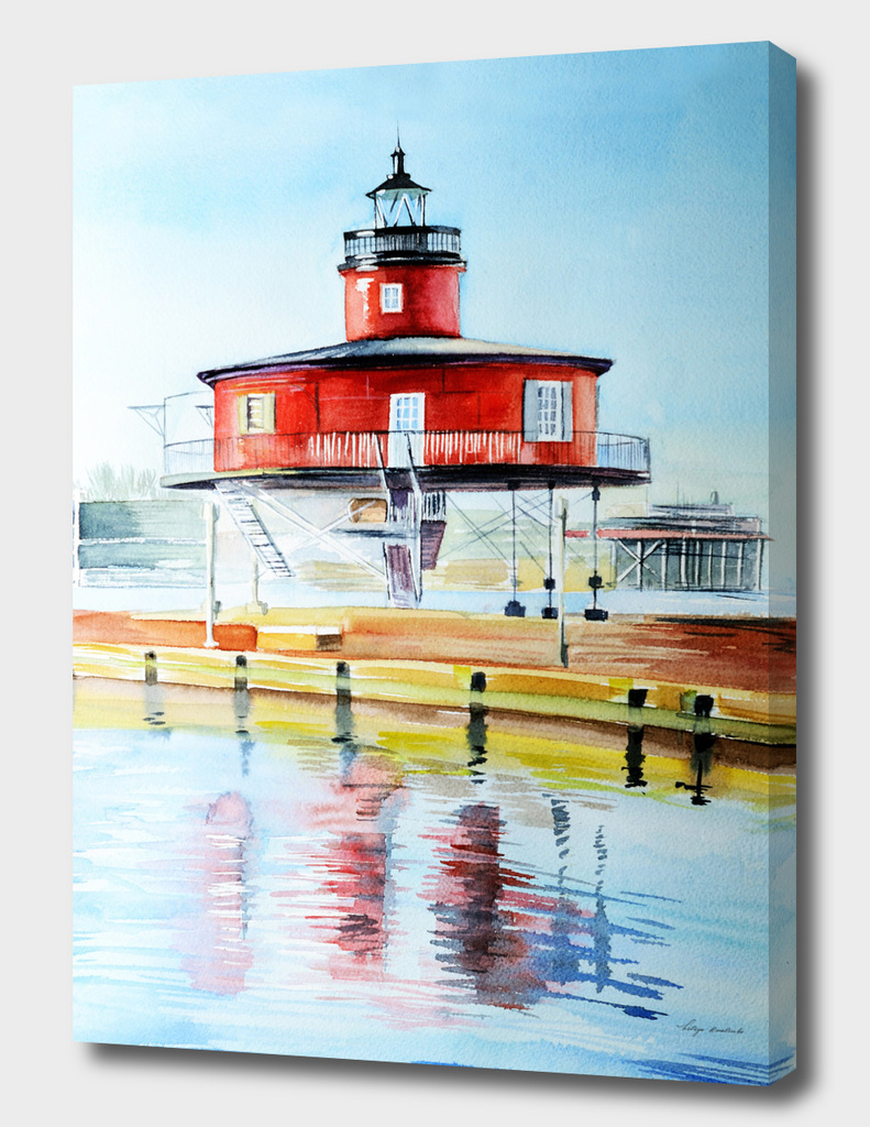 Lighthouse watercolor