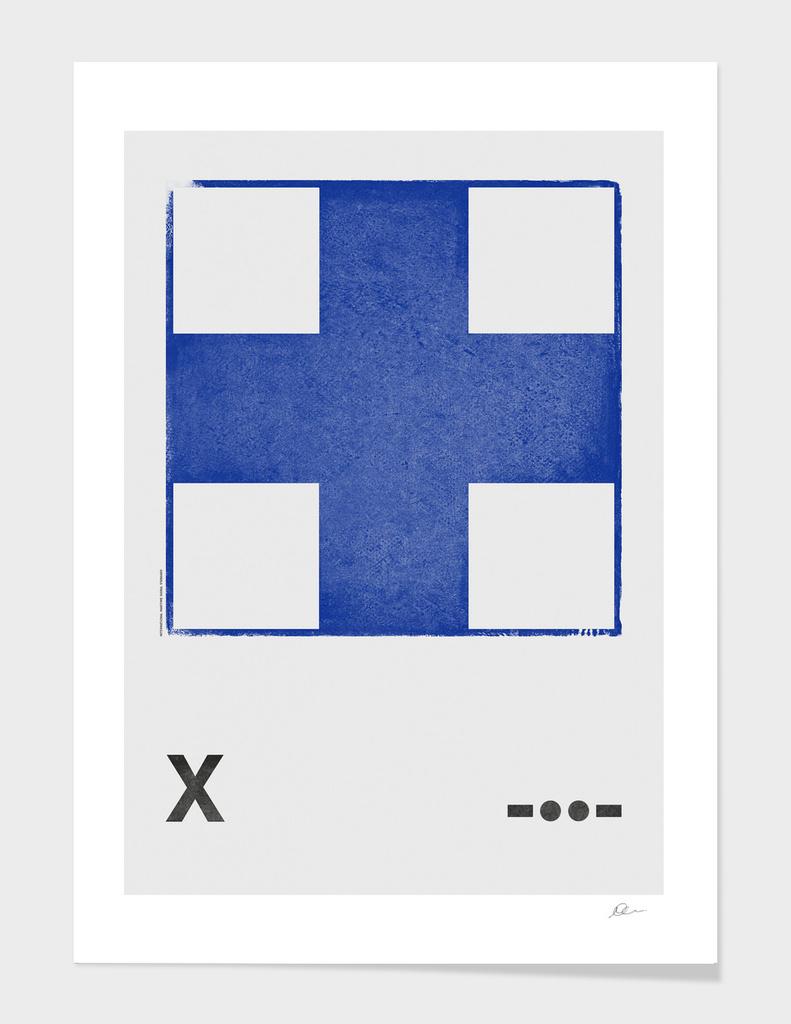 International Maritime Signal Flag Alphabet - X