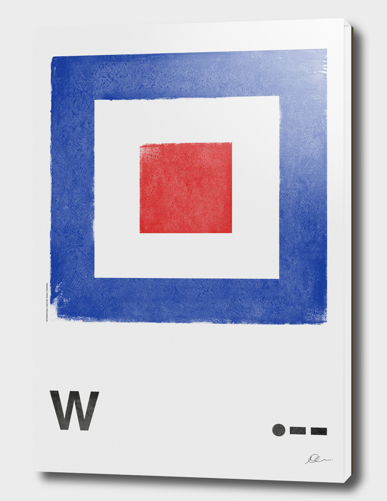 International Maritime Signal Flag Alphabet - W