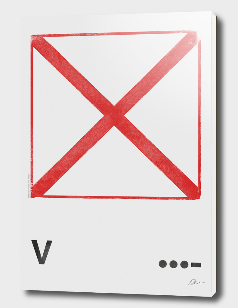 International Maritime Signal Flag Alphabet - V