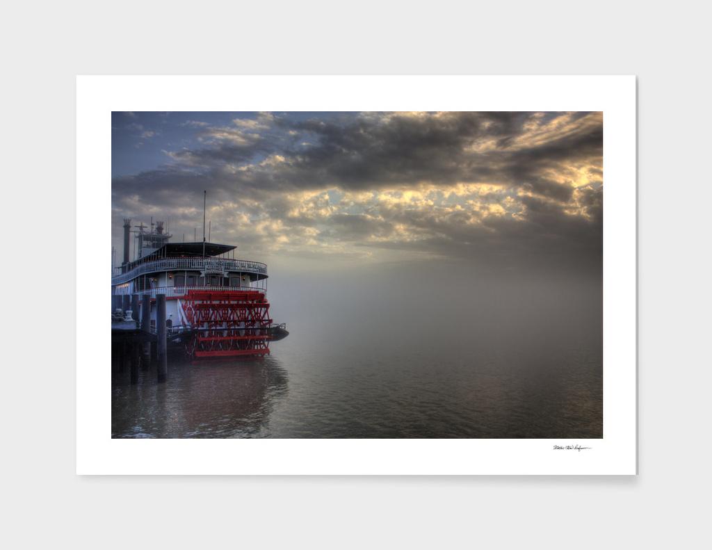 Paddlewheel in Fog