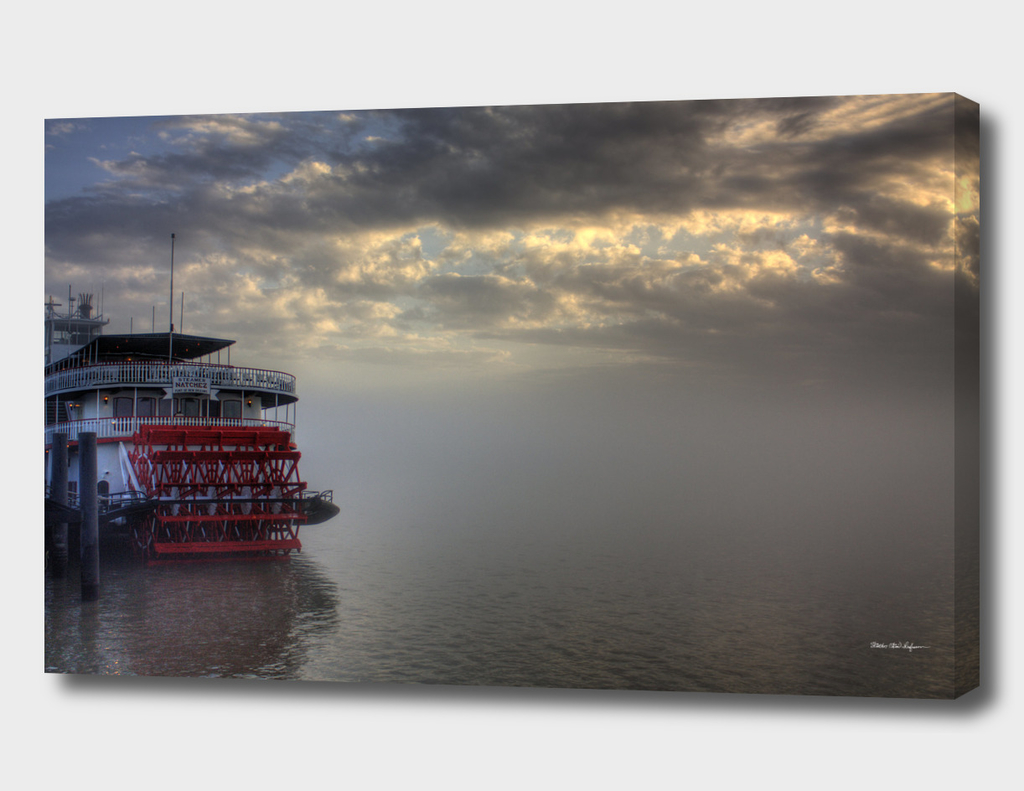 Paddlewheel in Fog