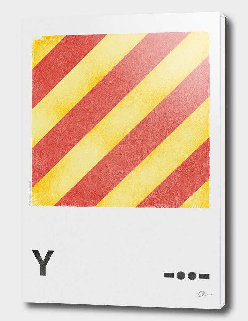 International Maritime Signal Flag Alphabet - Y