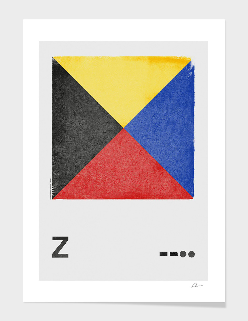 International Maritime Signal Flag Alphabet - Z