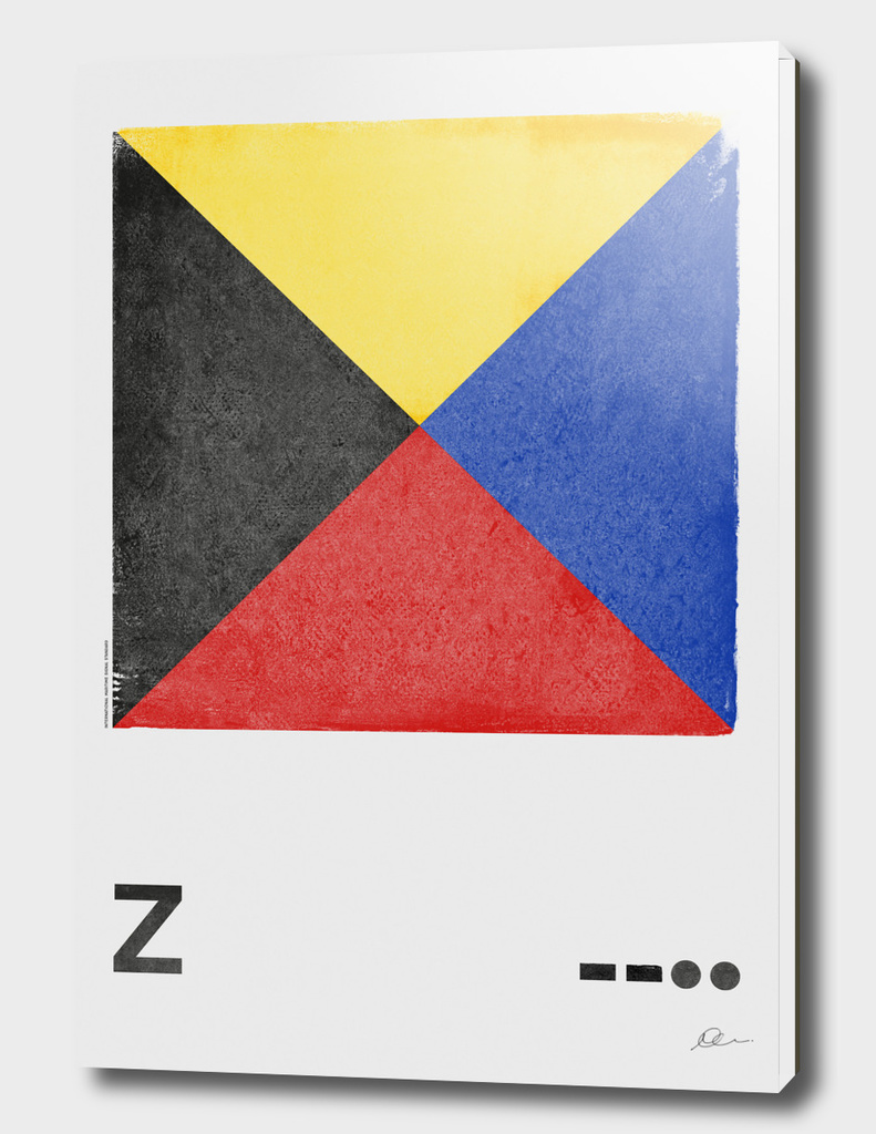International Maritime Signal Flag Alphabet - Z