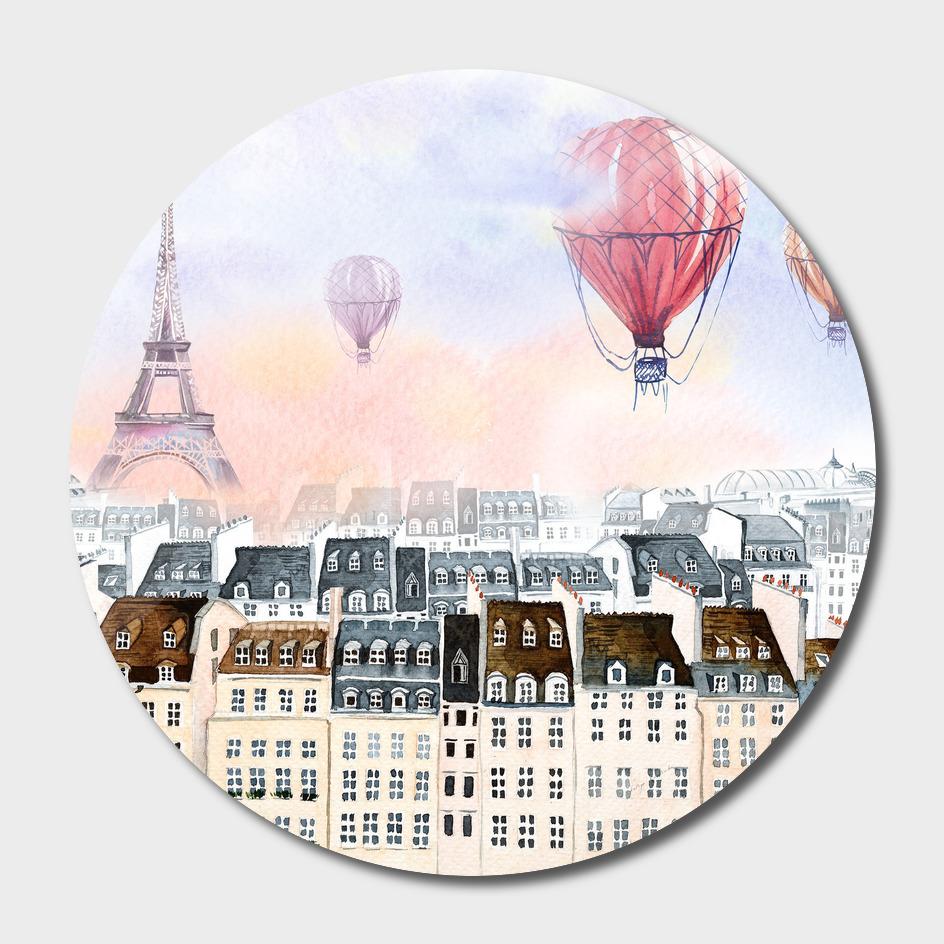 Paris hot air balloon