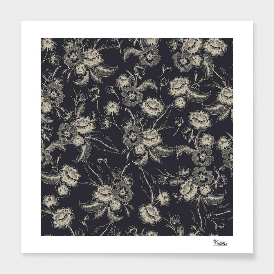 Vintage doodle florals
