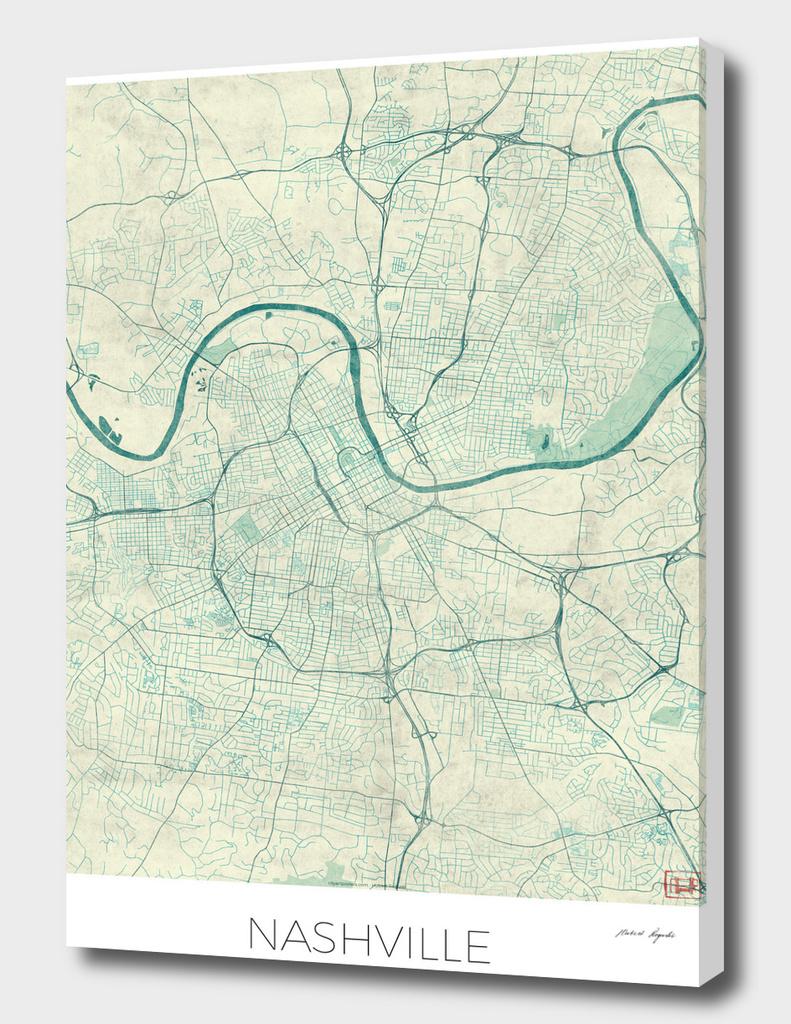 Nashville Map Blue
