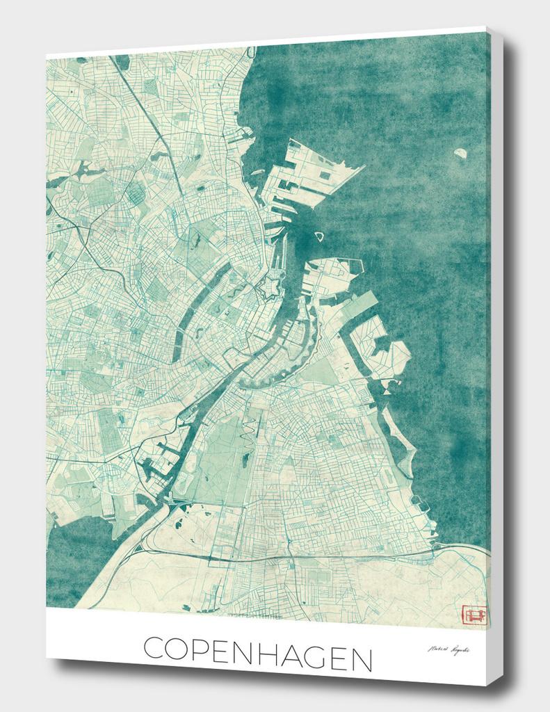 Copenhagen Map Blue