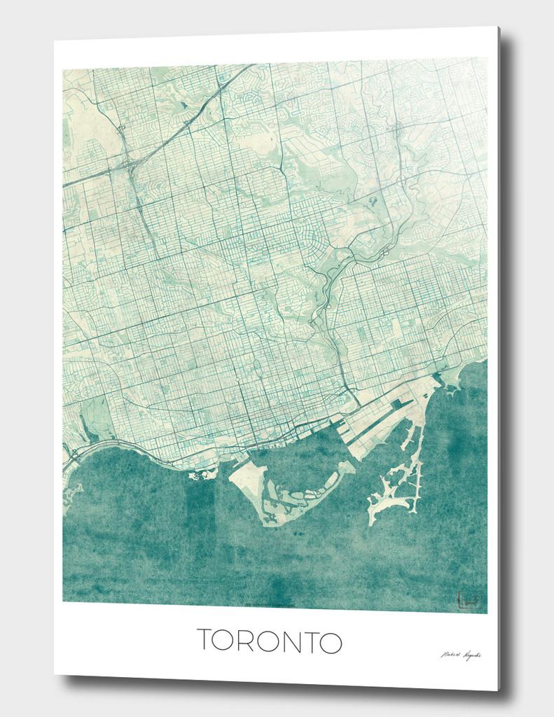 Toronto Map Blue