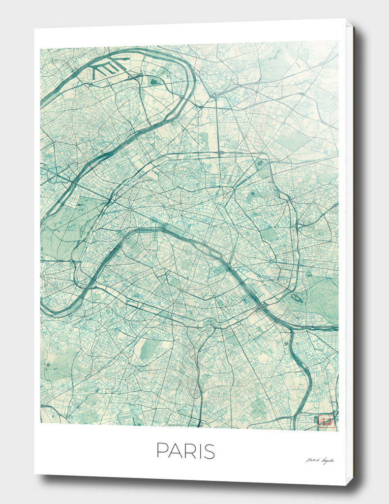 Paris Map Blue