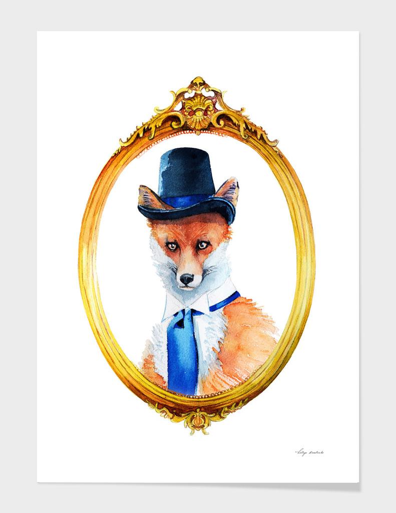 portrait of a fox