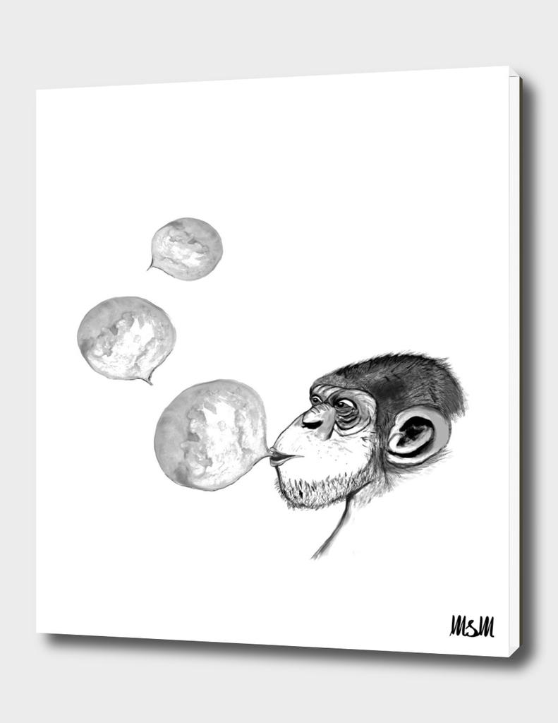 Ape with Gum