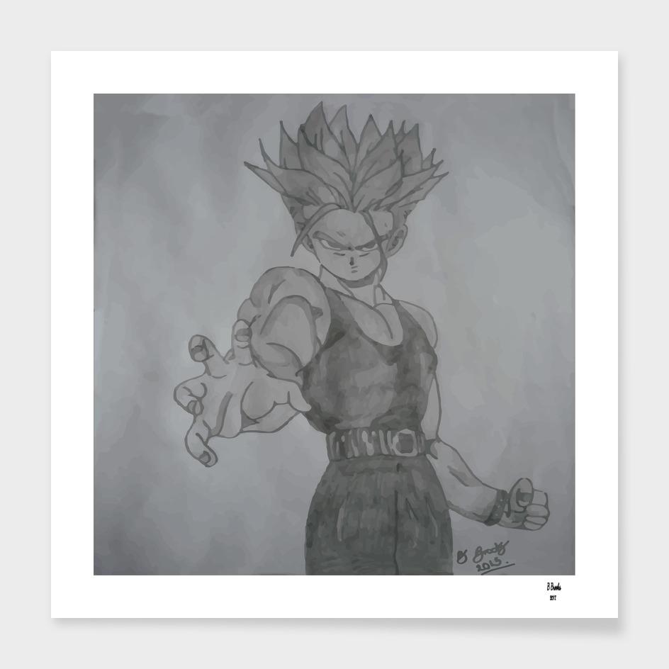 Dragonball Z Trunks Sketch