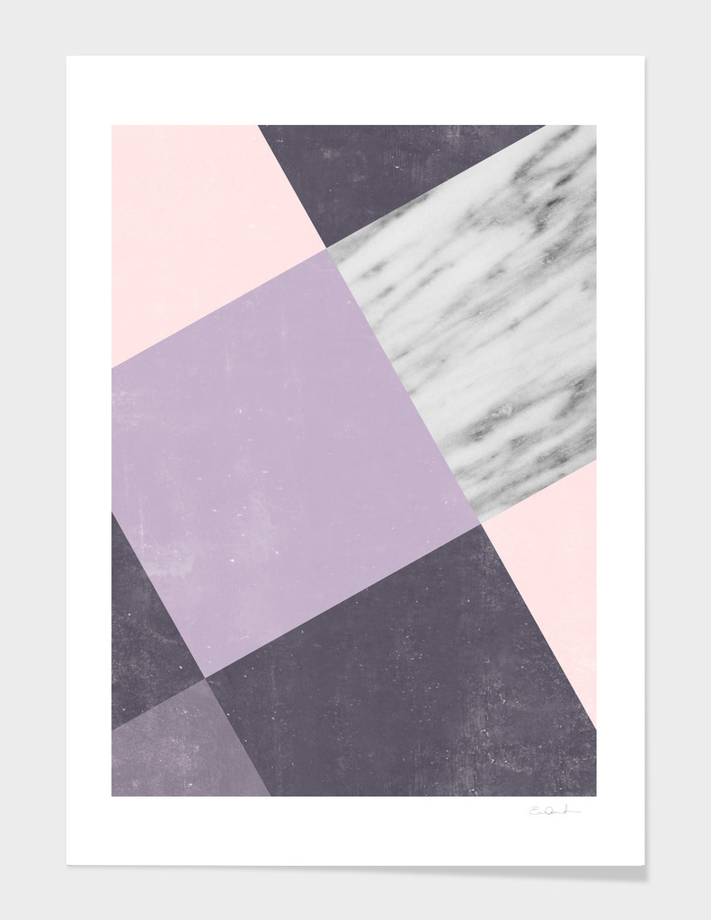Neutral Collage with Marble