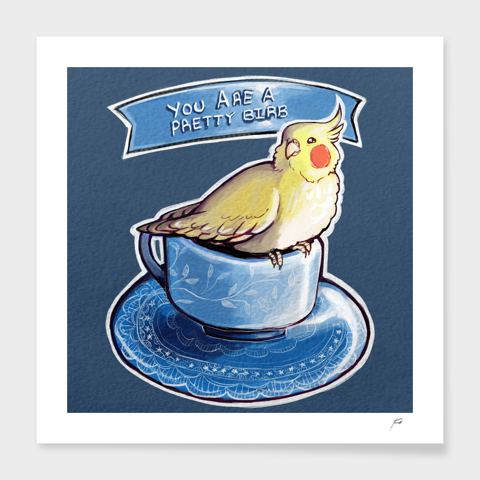 Pretty Birb Teacup