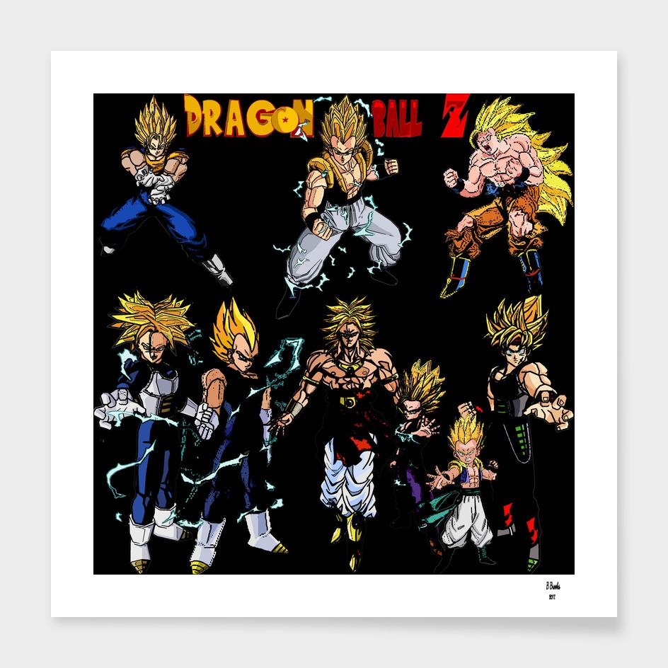Dragonbal Z Super Saiyans