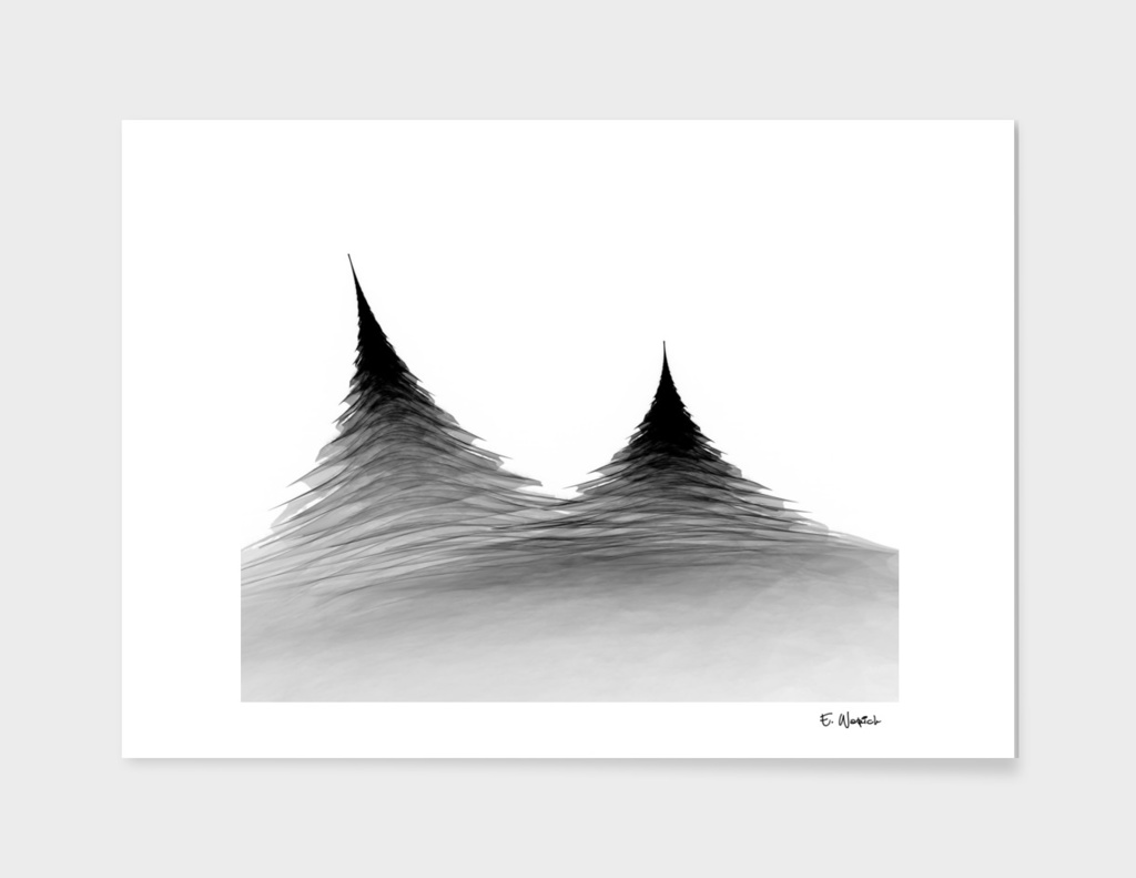 Untitled Black and White Abstract Art Print