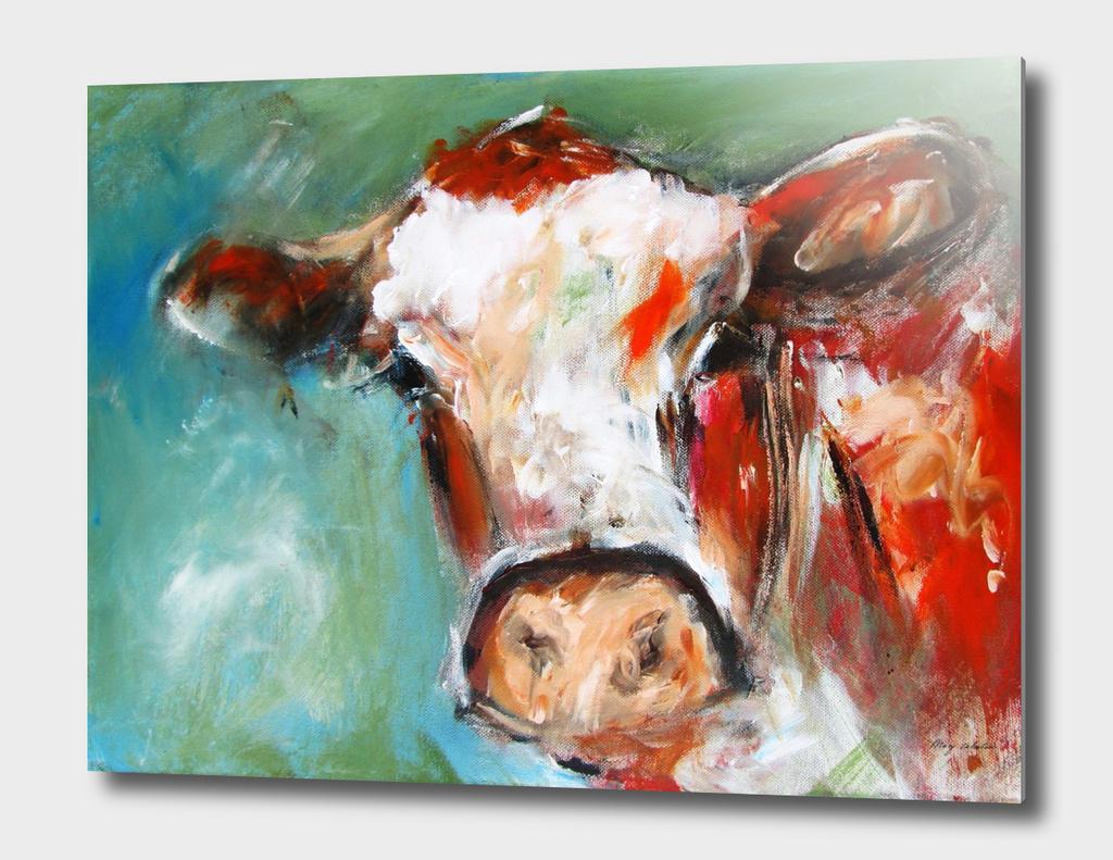irish cow bovine art