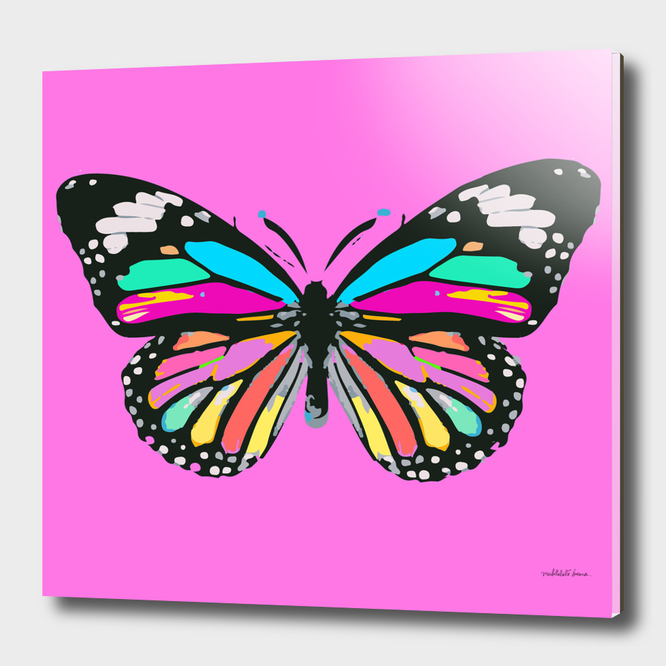 Butterfly pop art (pink)