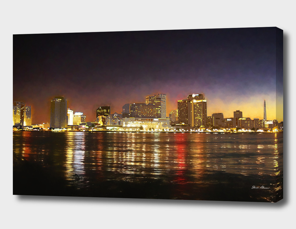 Nighttime Skyline of New Orleans