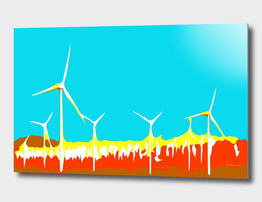 wind turbine in the desert