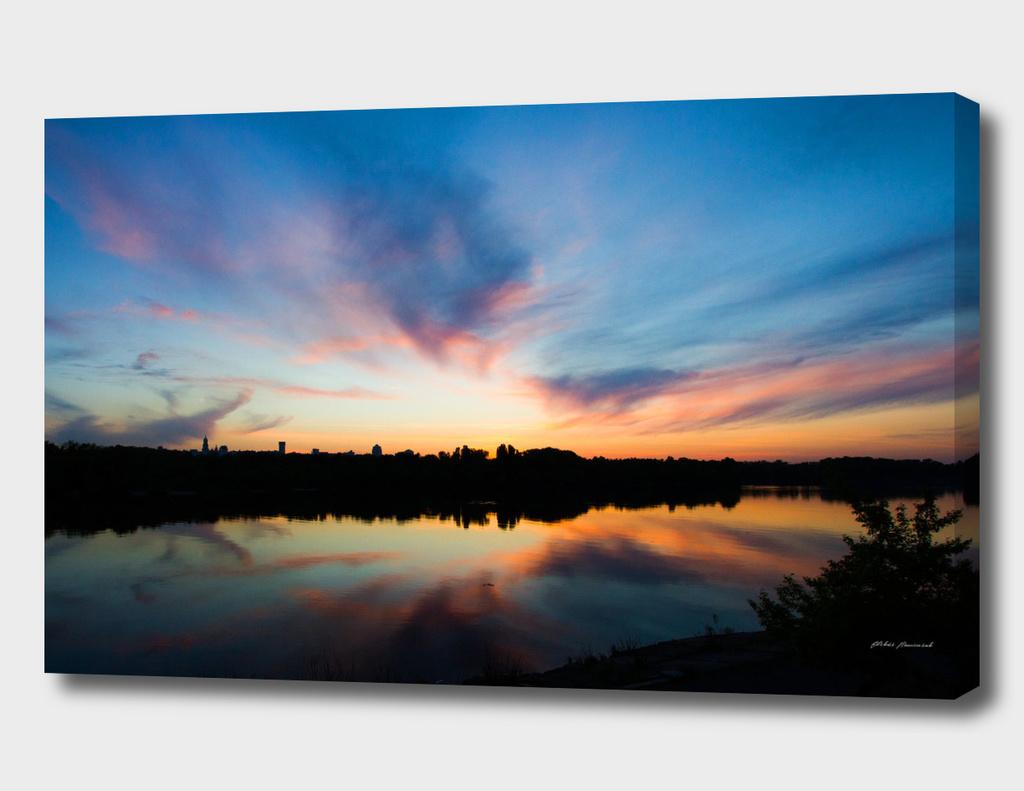 Azure sunset
